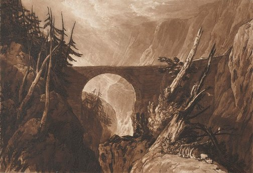 An image of Little Devil's Bridge by J.M.W. Turner