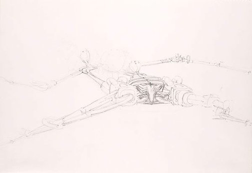 An image of Sketch for 'The trap I' by James Gleeson