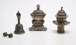 An image of Set of four miniature enthronement implements by