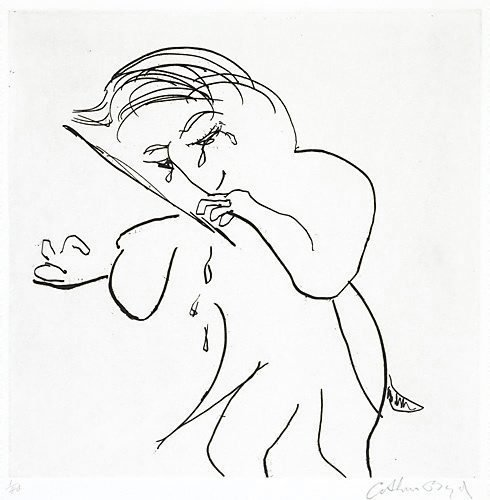 An image of (Crying conductor) by Arthur Boyd