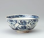 Alternate image of Bowl with design of ducks and lotus by Export ware (South East Asia market)