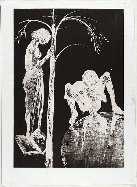 An image of (Illustration for Peter Porter's poem 'Postlude') by Arthur Boyd