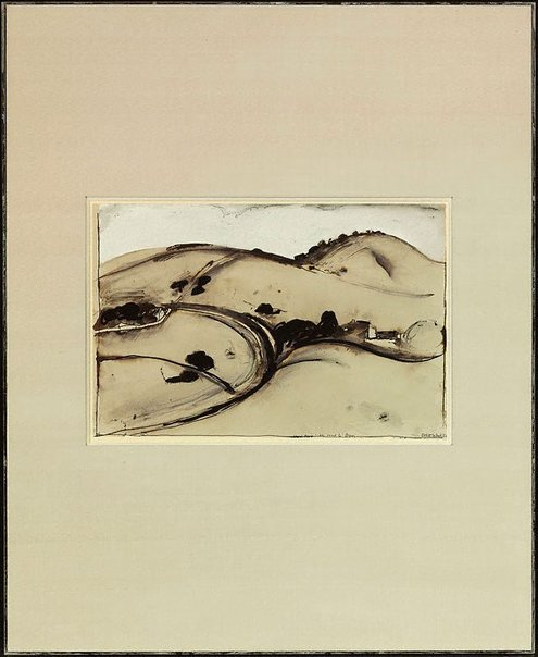 An image of Lloyd Rees' 'The road to Berry' by Brett Whiteley
