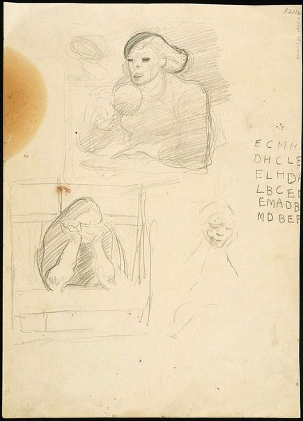 An image of (Studies of women seated) (London genre) by William Dobell