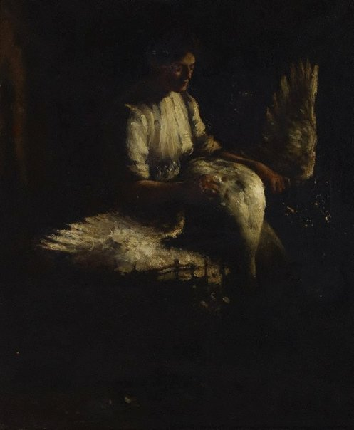 An image of Plucking geese by Frank Heath