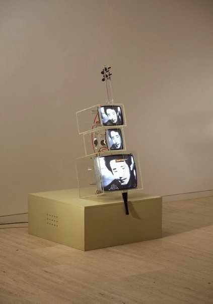 An image of TV cello by Nam June Paik